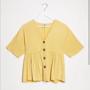 ASOS Maternity Top in Mustard Yellow, Size 2, NWOT